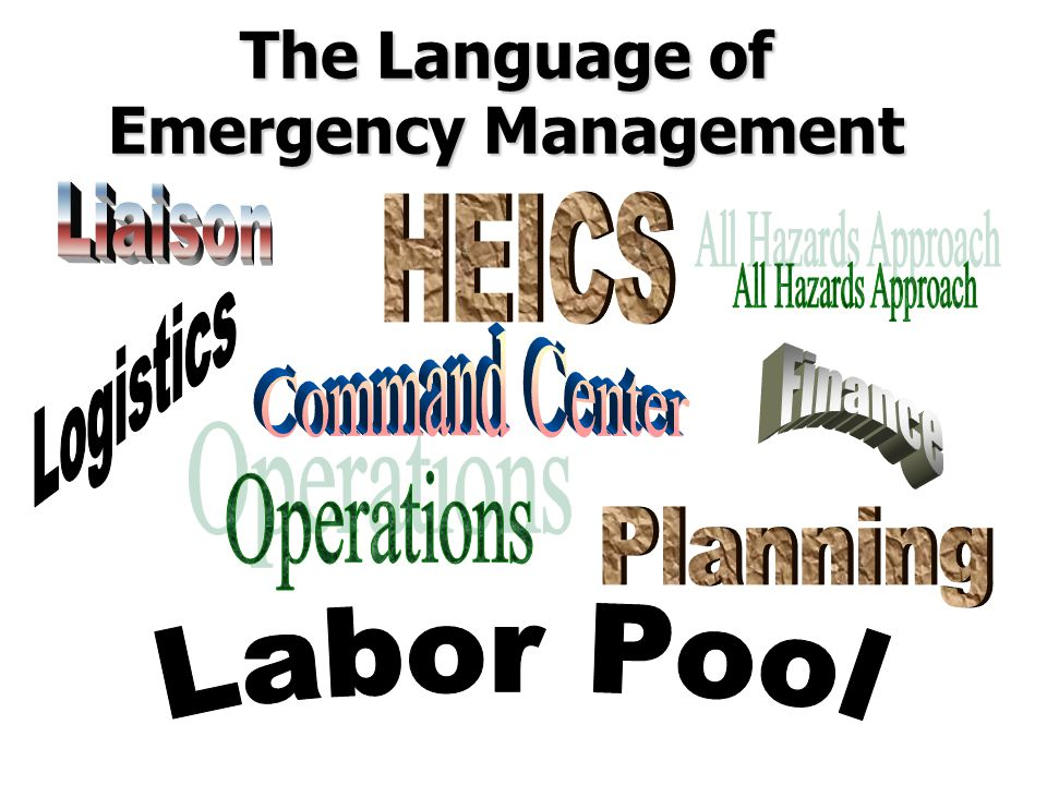 The Language of Emergency Management
