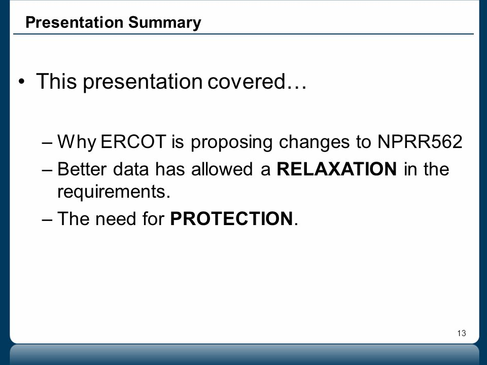 This presentation covered…
