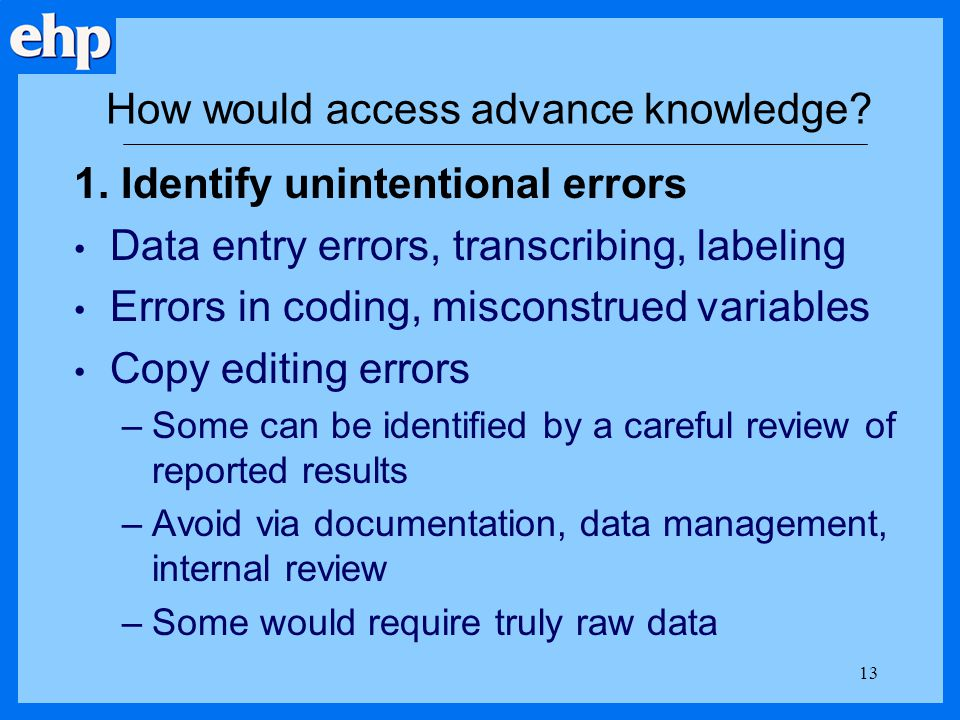 How would access advance knowledge