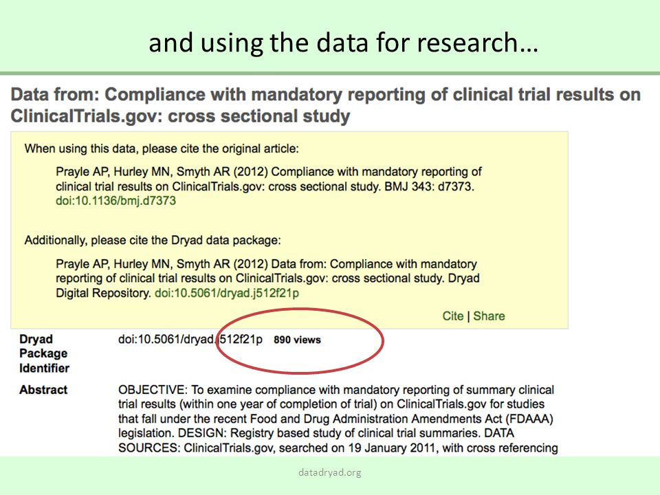 and using the data for research…