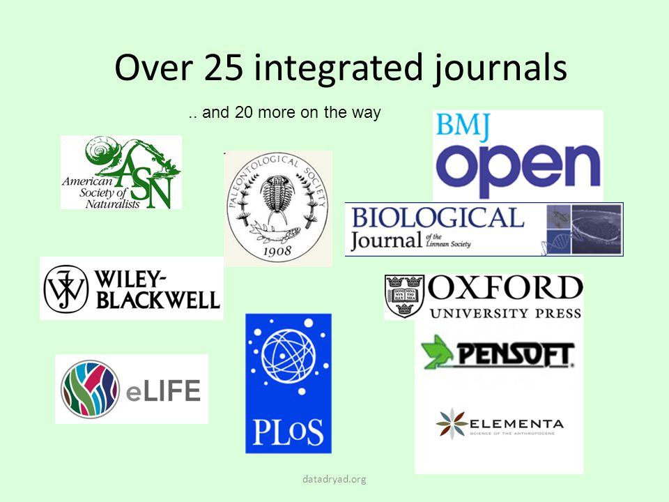 Over 25 integrated journals
