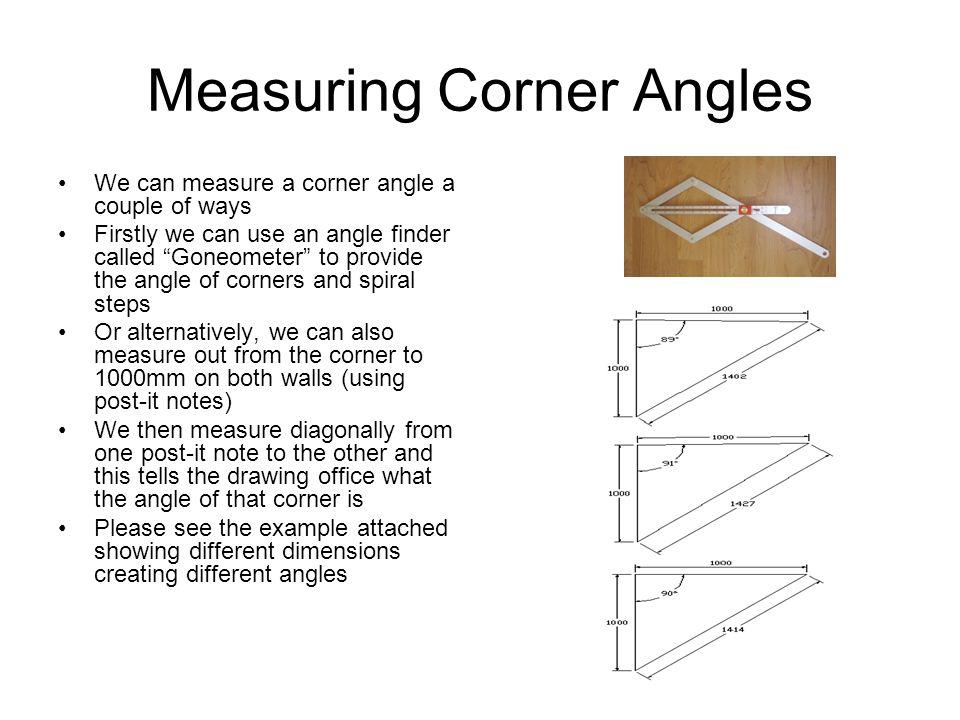 Measuring Corner Angles