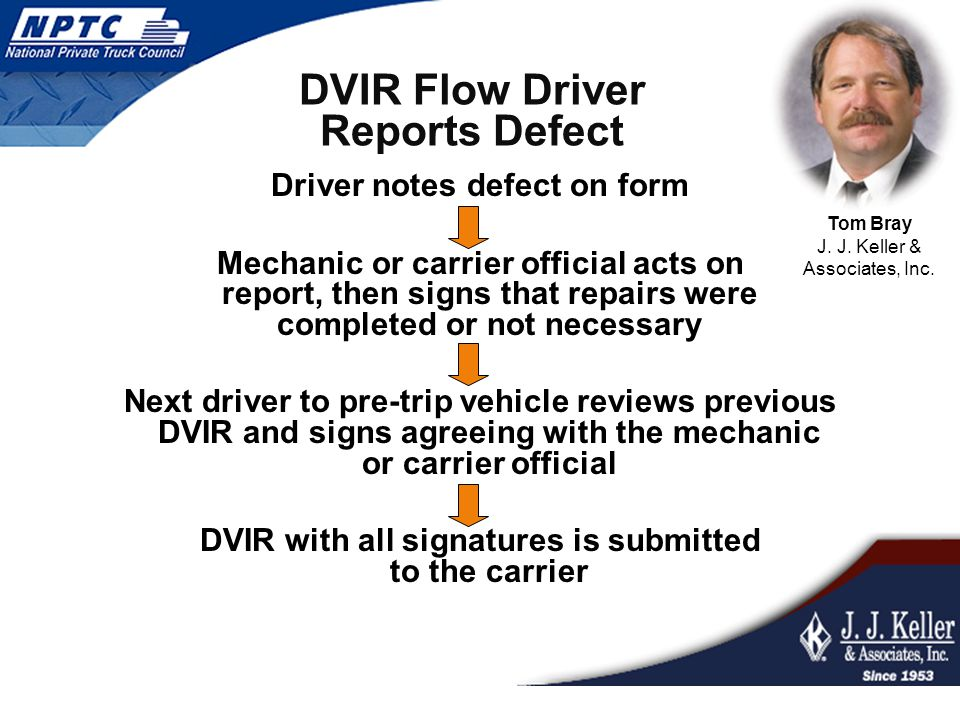 DVIR Flow Driver Reports Defect