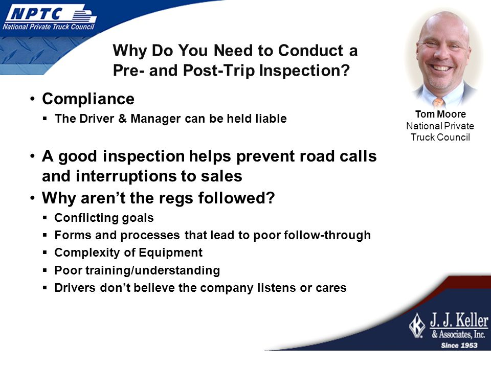 Why Do You Need to Conduct a Pre- and Post-Trip Inspection