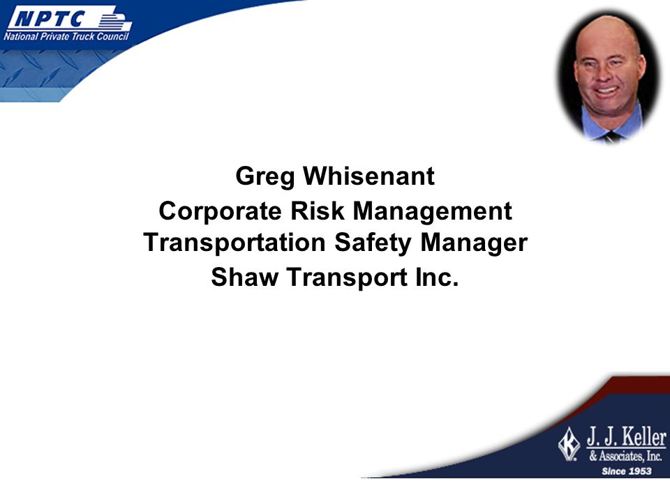 Corporate Risk Management Transportation Safety Manager