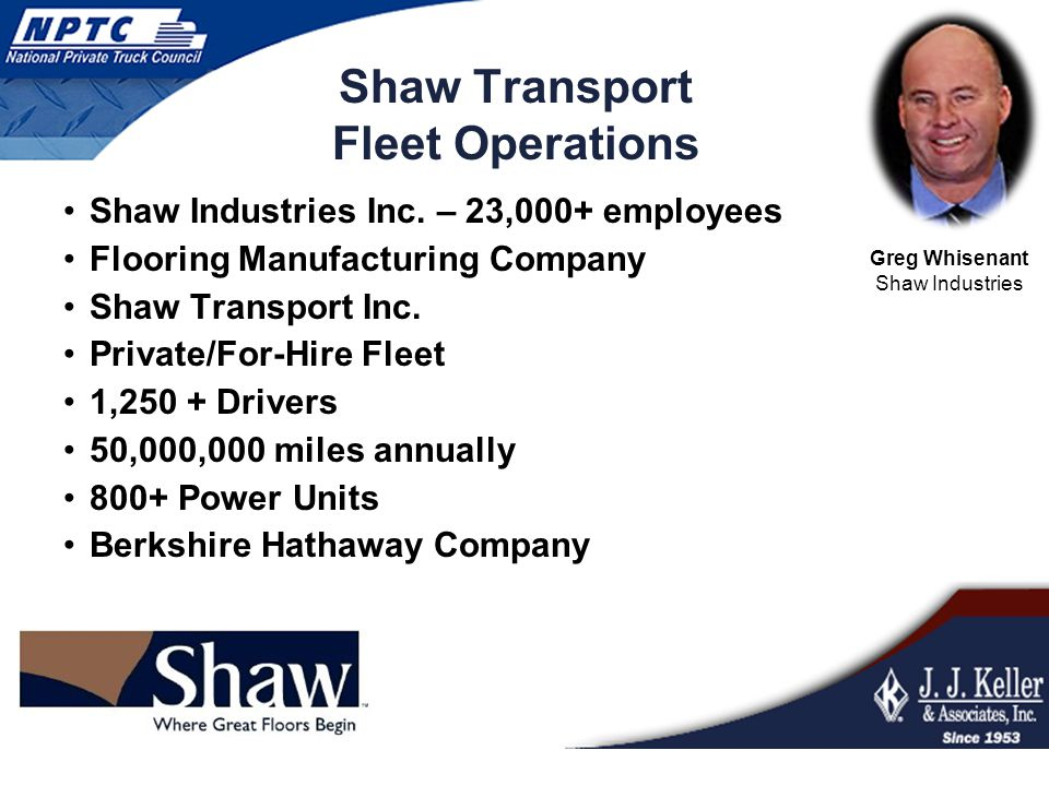 Shaw Transport Fleet Operations