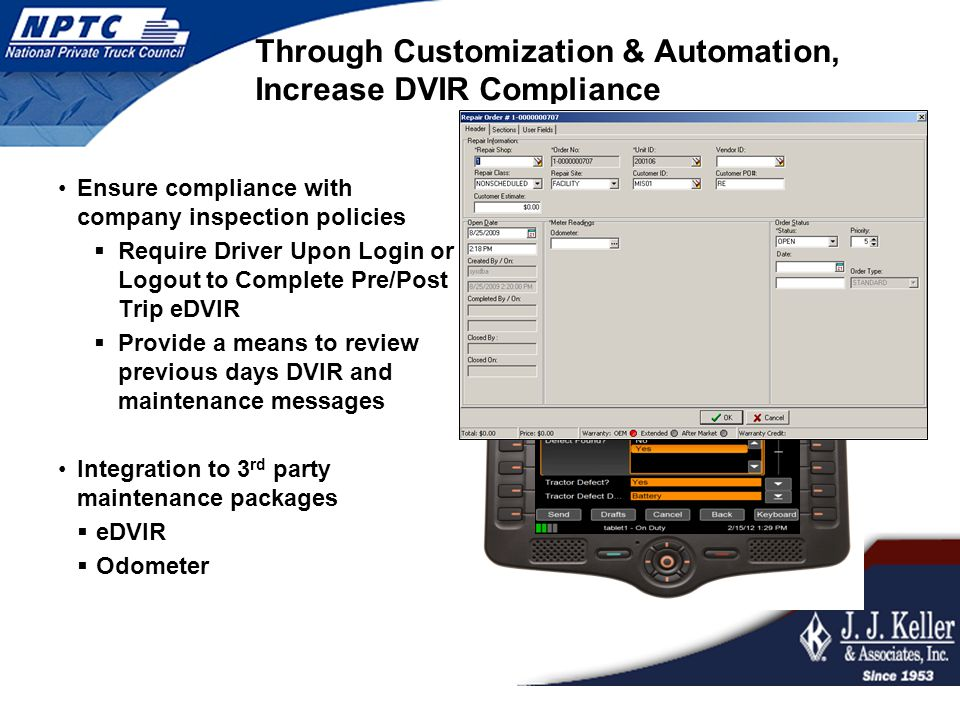 Through Customization & Automation, Increase DVIR Compliance