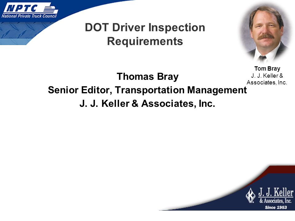 DOT Driver Inspection Requirements