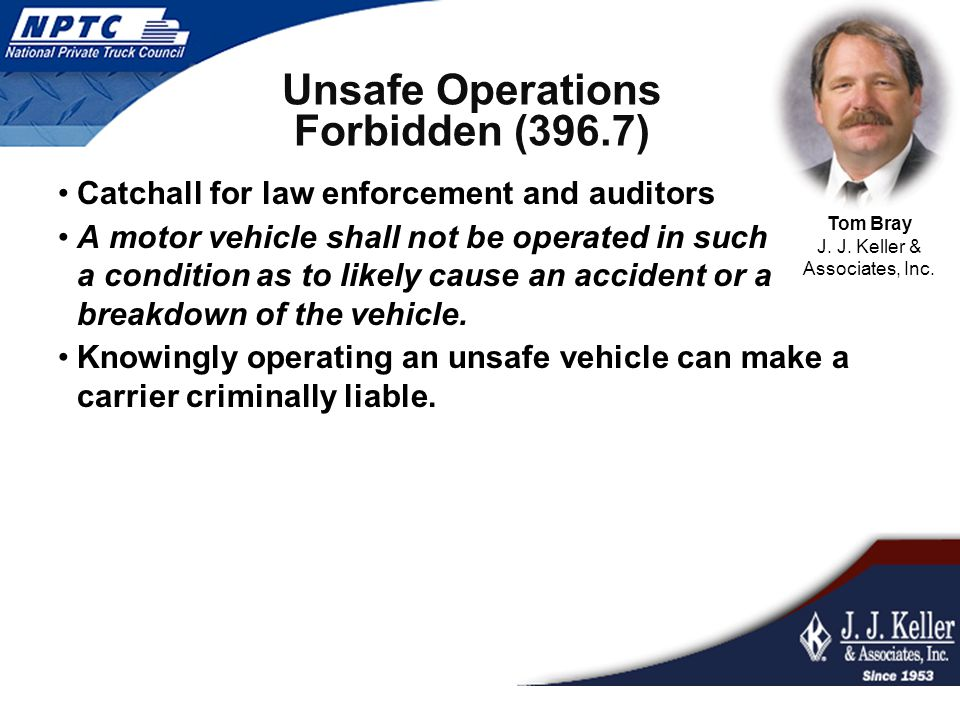 Unsafe Operations Forbidden (396.7)