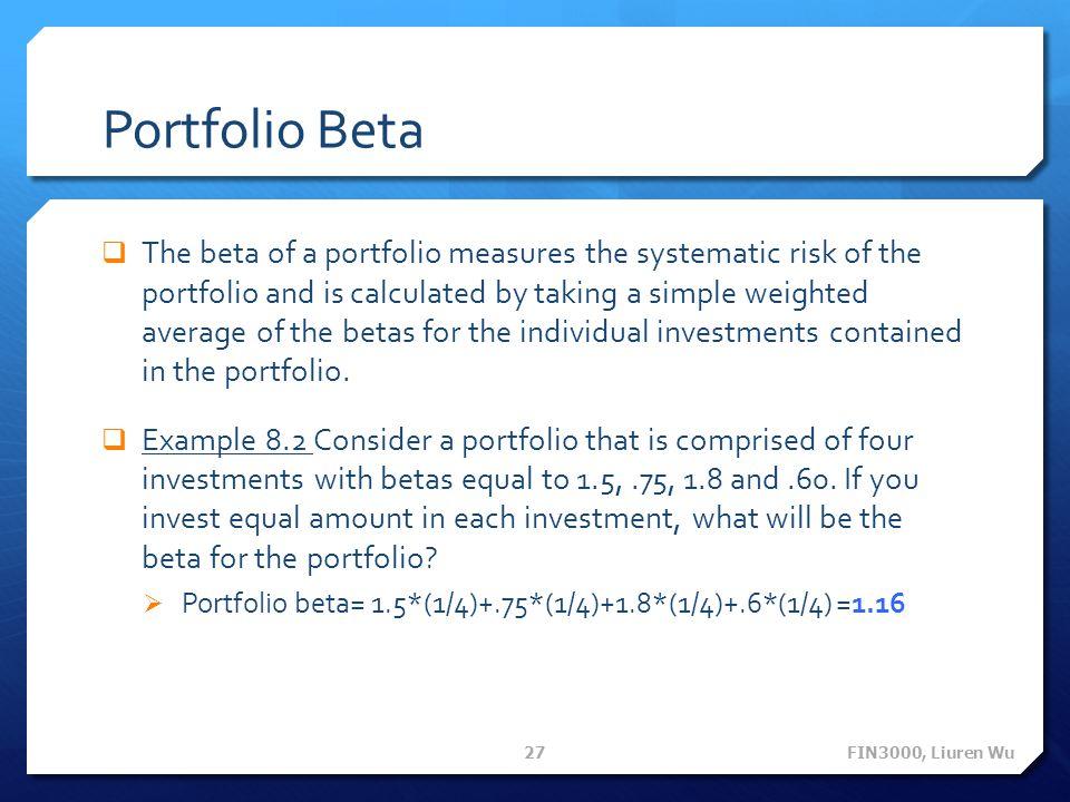 Portfolio Beta