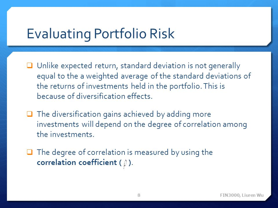Evaluating Portfolio Risk