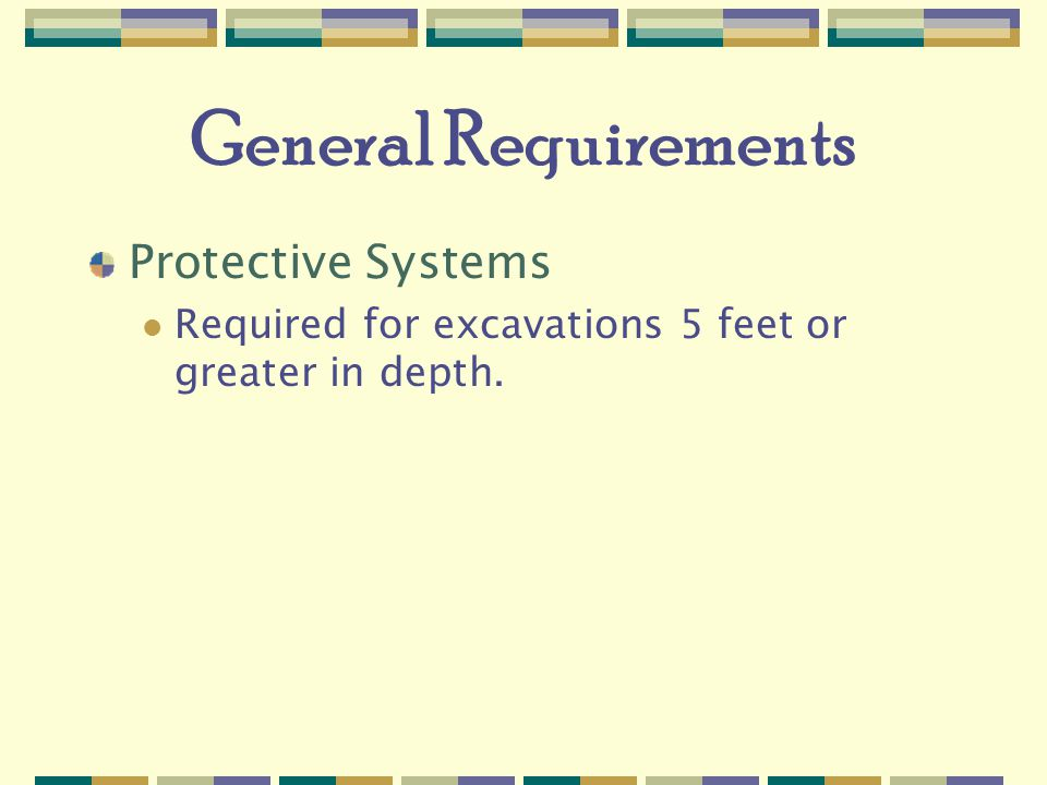 General Requirements Protective Systems
