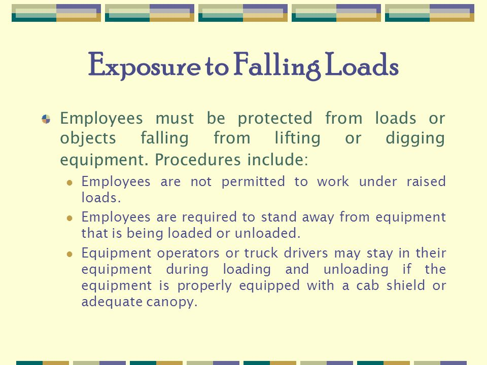 Exposure to Falling Loads