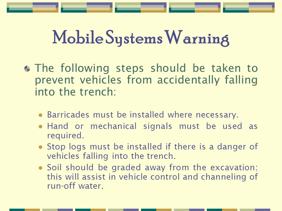 Mobile Systems Warning