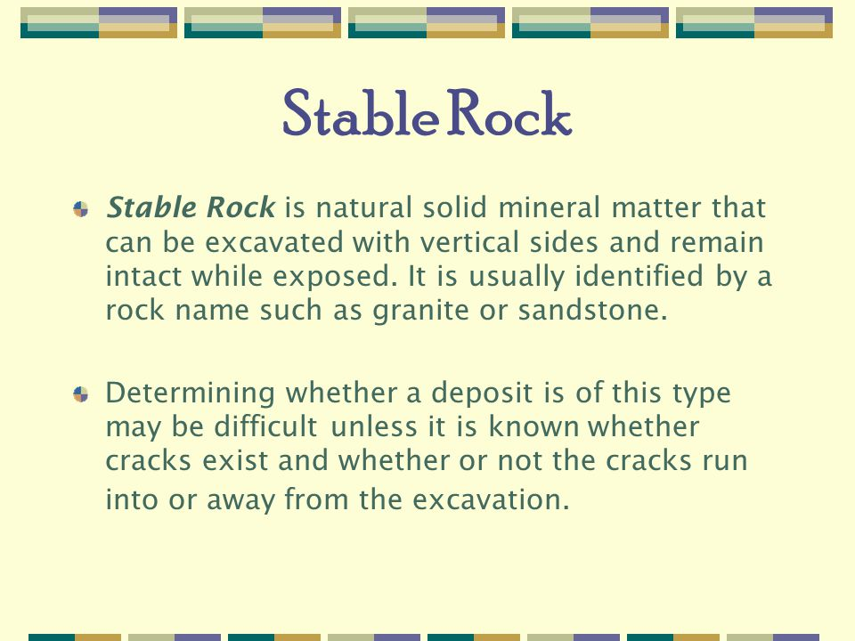 Stable Rock