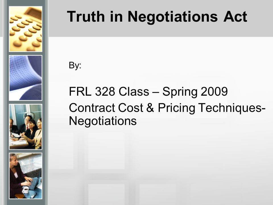 Truth in Negotiations Act