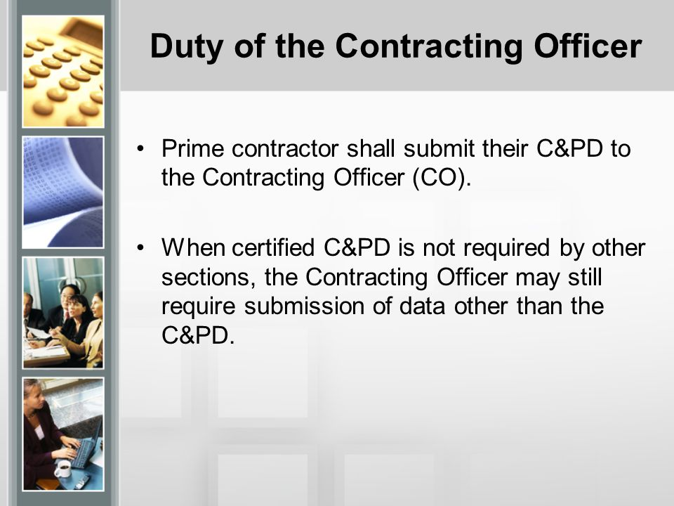 Duty of the Contracting Officer