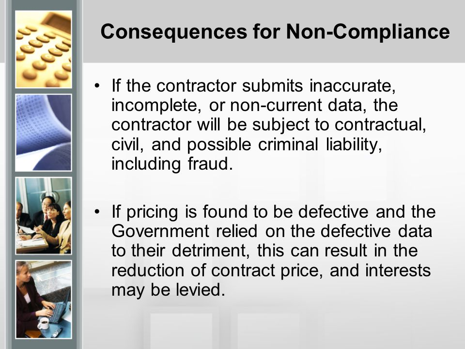 Consequences for Non-Compliance