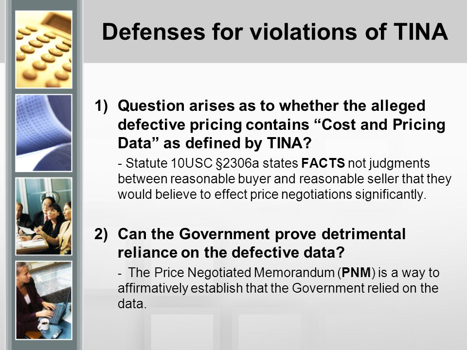 Defenses for violations of TINA