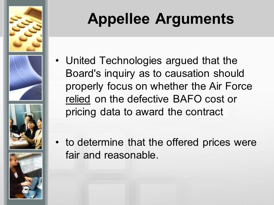 Appellee Arguments