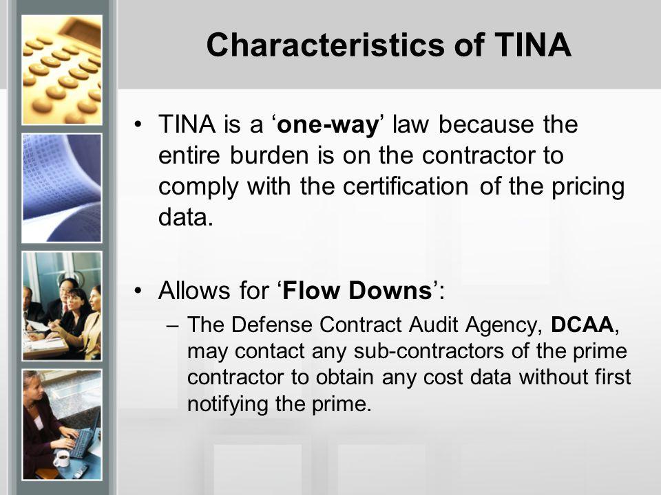 Characteristics of TINA