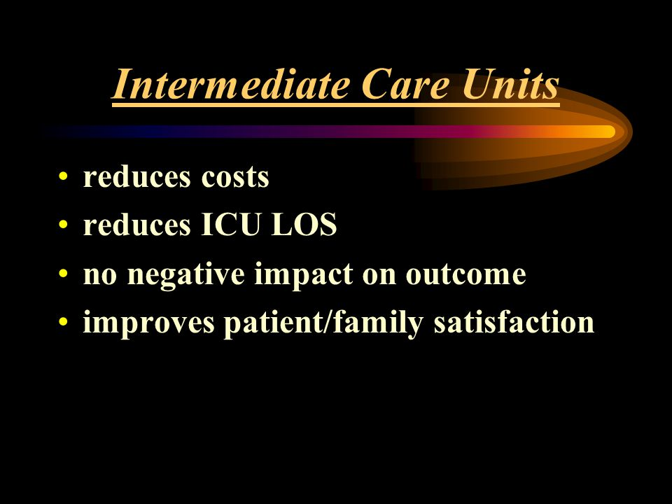 Intermediate Care Units