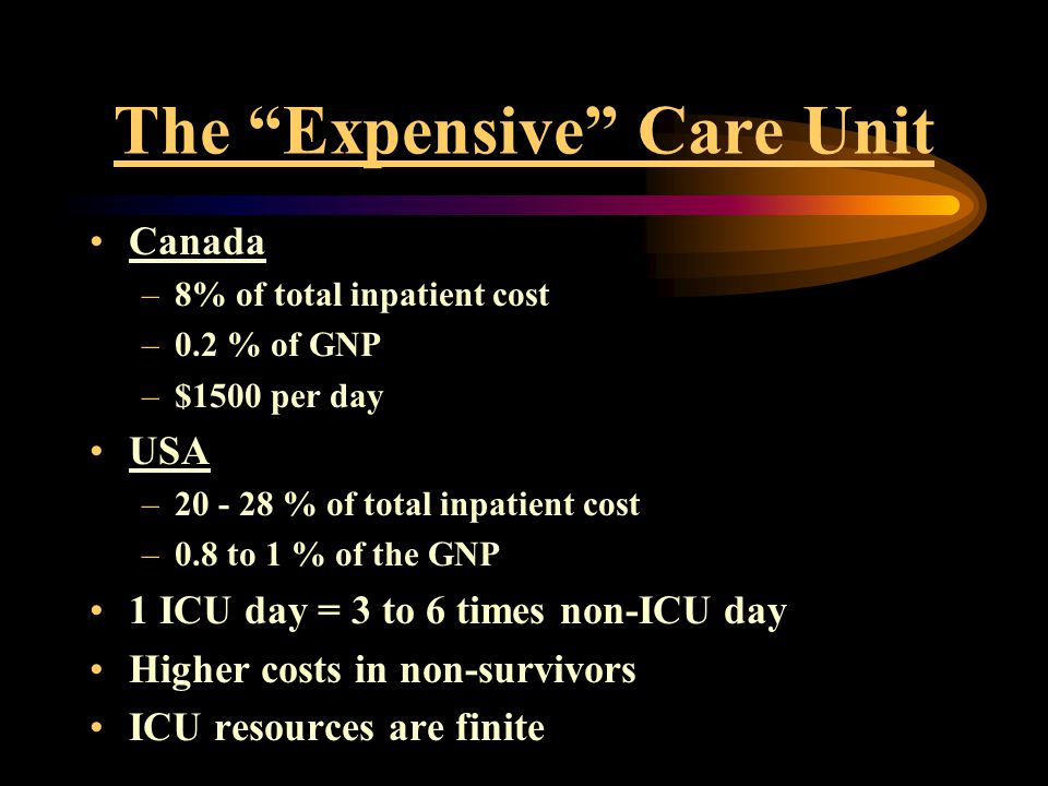 The Expensive Care Unit