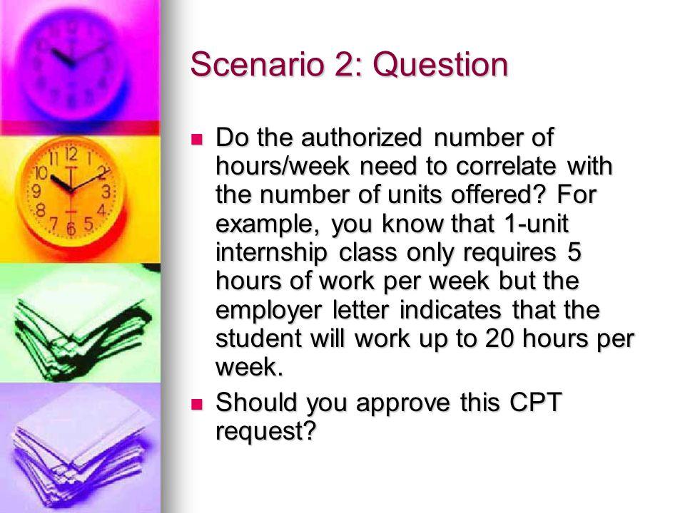Scenario 2: Question