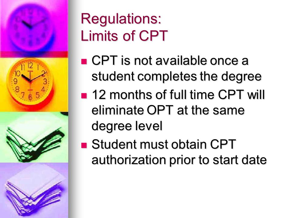 Regulations: Limits of CPT