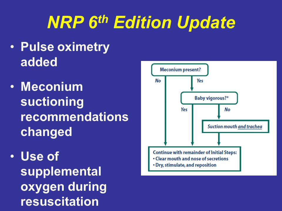 NRP 6th Edition Update Pulse oximetry added