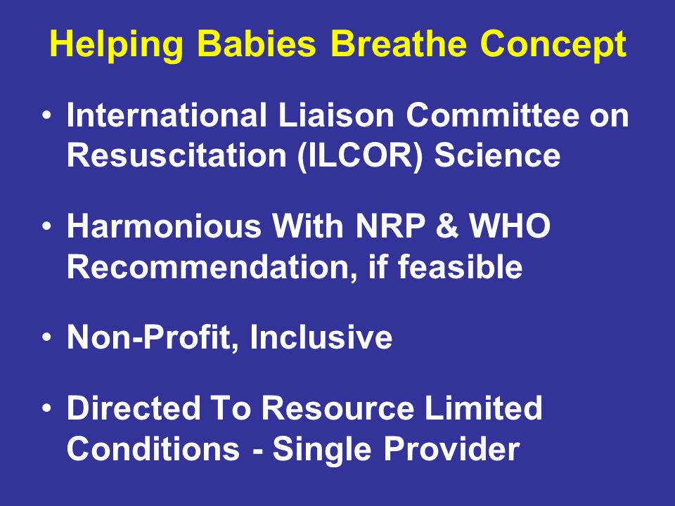 Helping Babies Breathe Concept