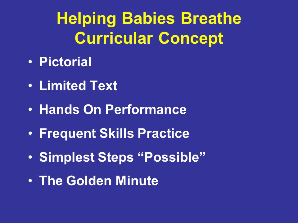 Helping Babies Breathe Curricular Concept