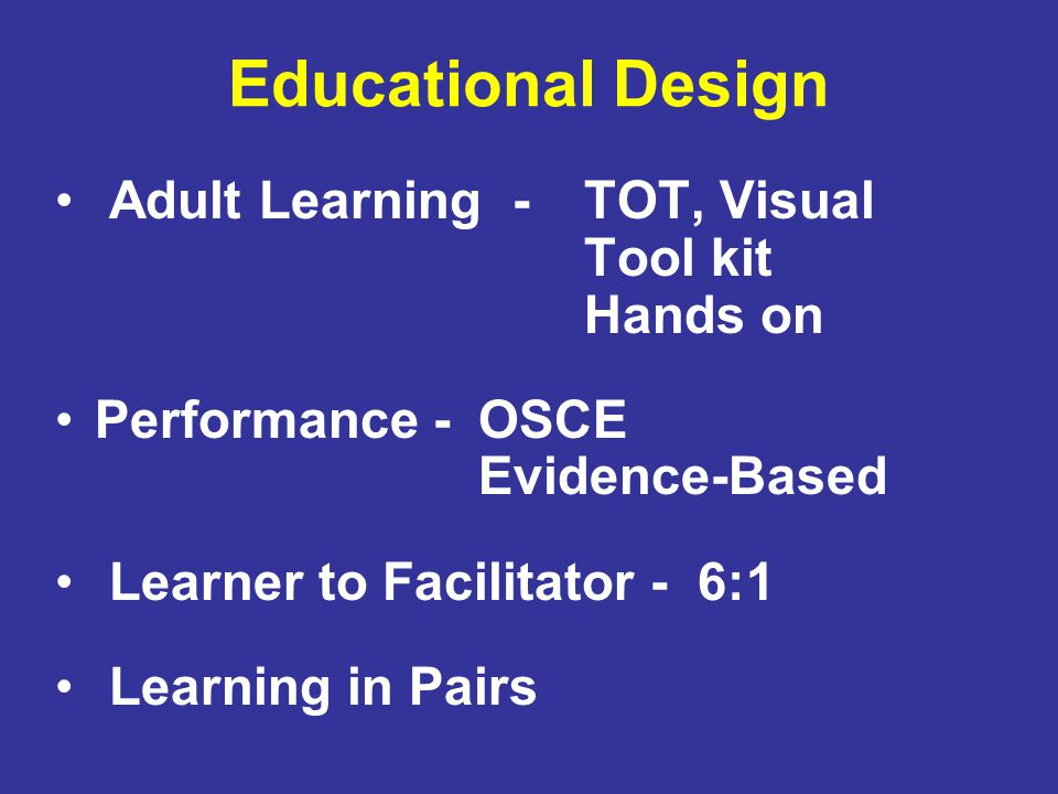 Educational Design Adult Learning - TOT, Visual Tool kit Hands on