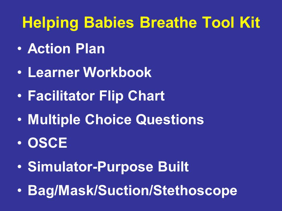 Helping Babies Breathe Tool Kit