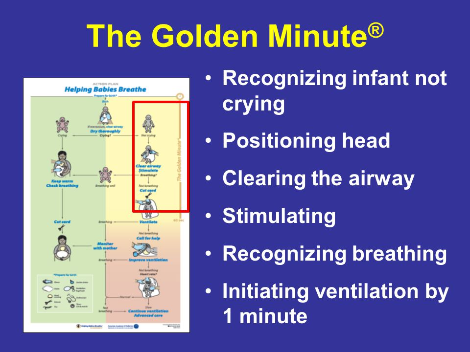 The Golden Minute® Recognizing infant not crying Positioning head