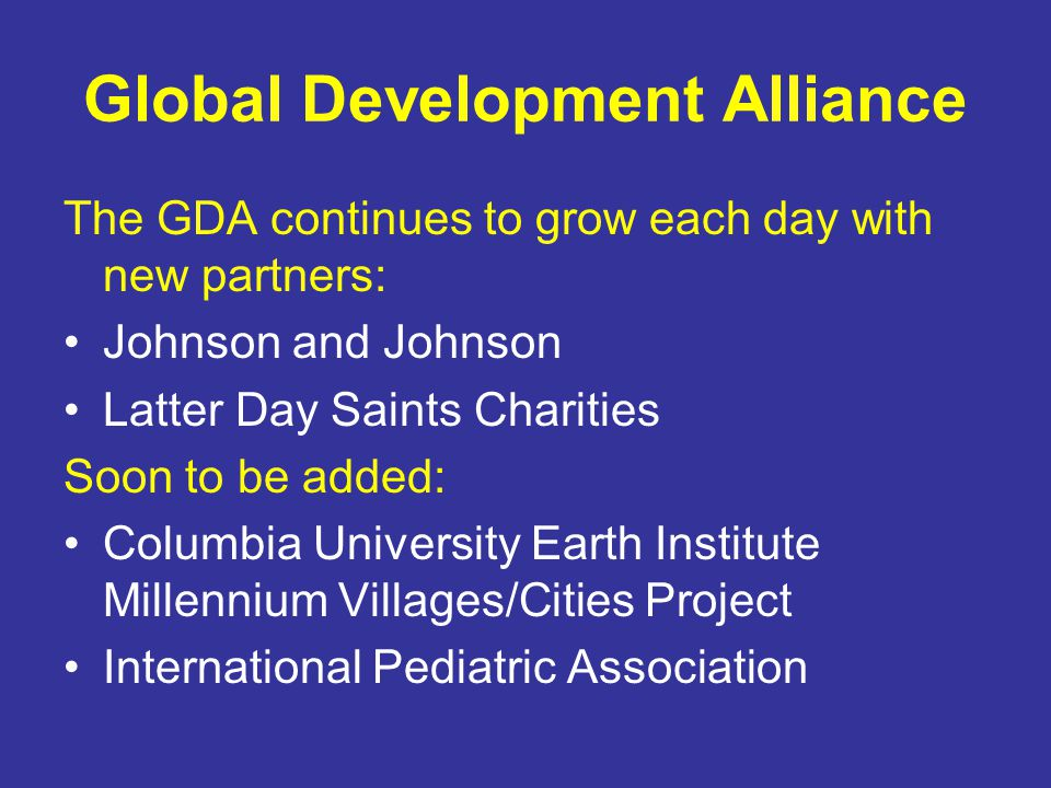 Global Development Alliance
