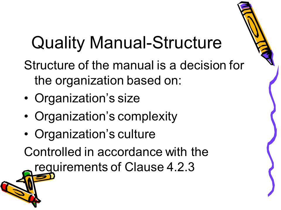 Quality Manual-Structure