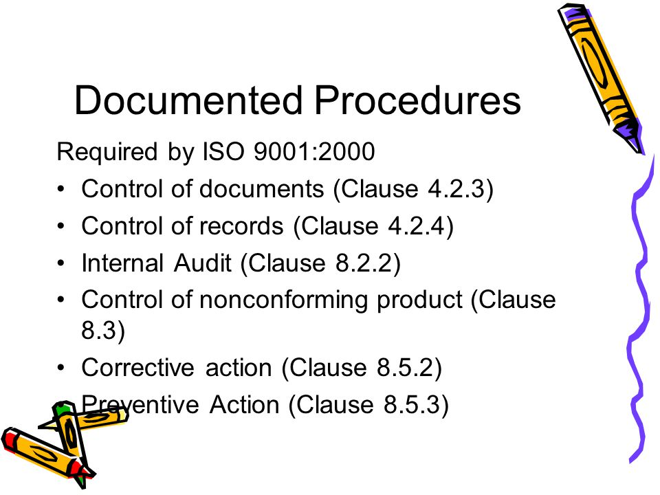 Documented Procedures