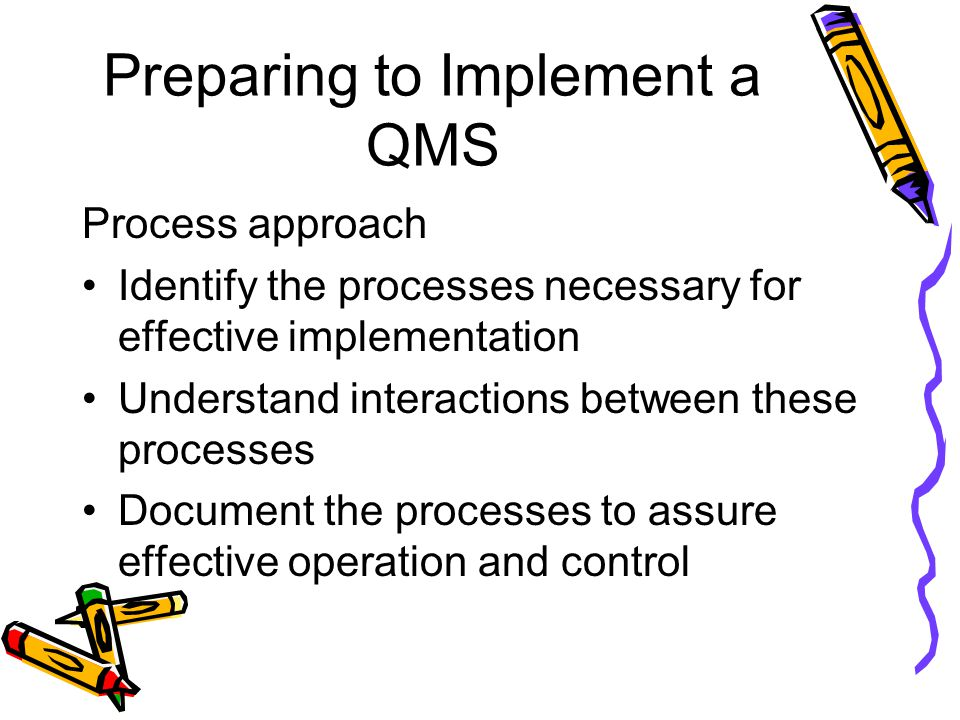 Preparing to Implement a QMS