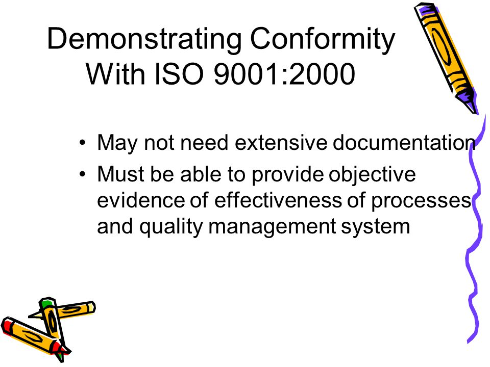 Demonstrating Conformity With ISO 9001:2000