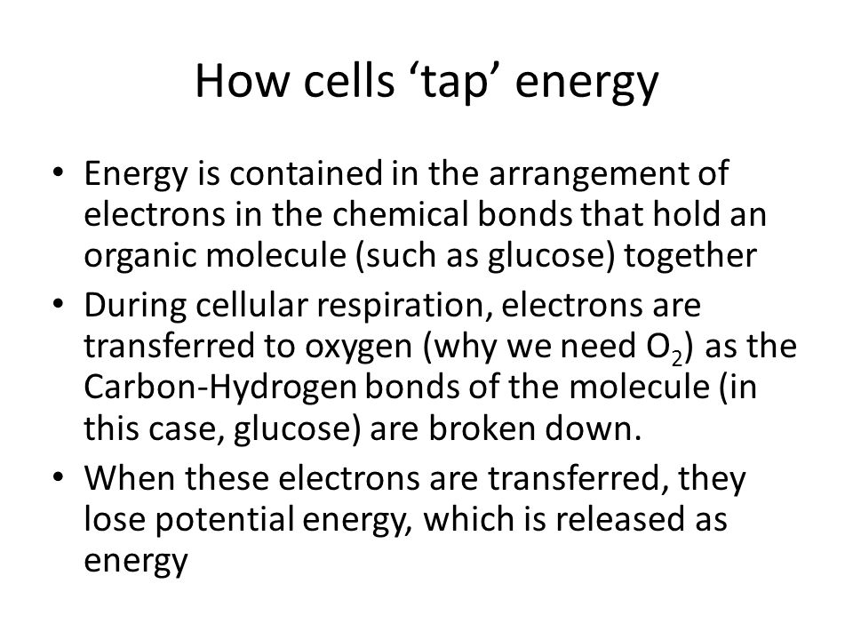 How cells 'tap' energy