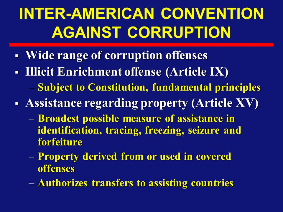 INTER-AMERICAN CONVENTION AGAINST CORRUPTION