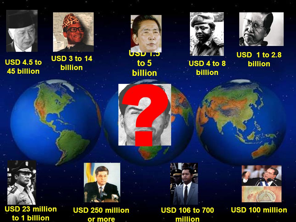 USD 1.5 to 5 billion USD 1 to 2.8 billion USD 3 to 14 billion