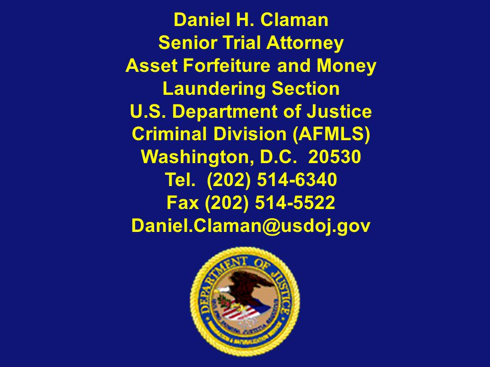 Asset Forfeiture and Money Laundering Section
