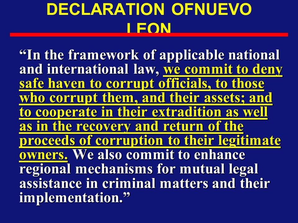 DECLARATION OFNUEVO LEON