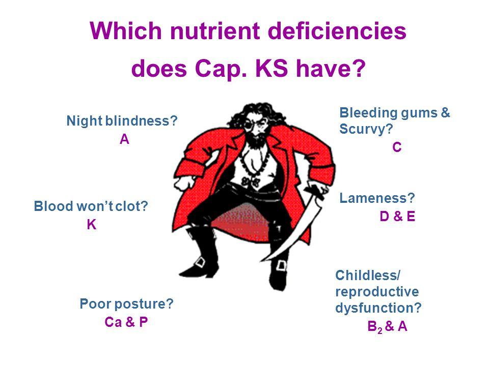 Which nutrient deficiencies