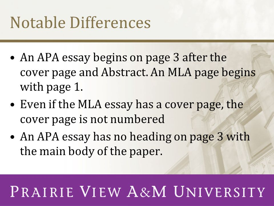 Mla For Essay