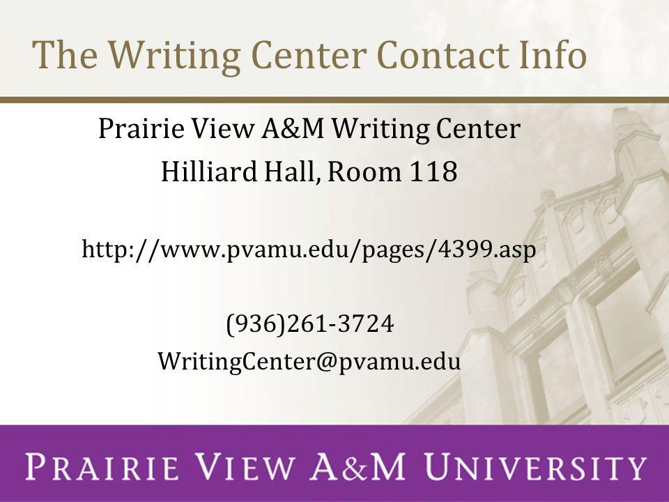 Prairie View A&M Writing Center