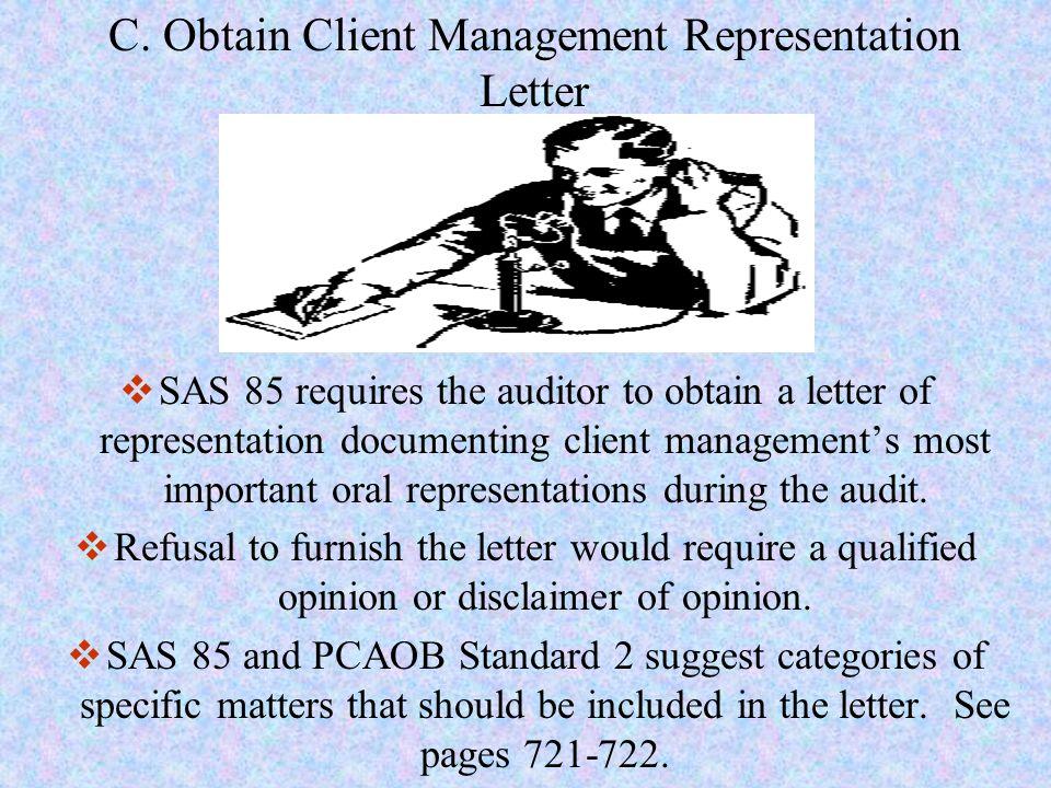 C. Obtain Client Management Representation Letter