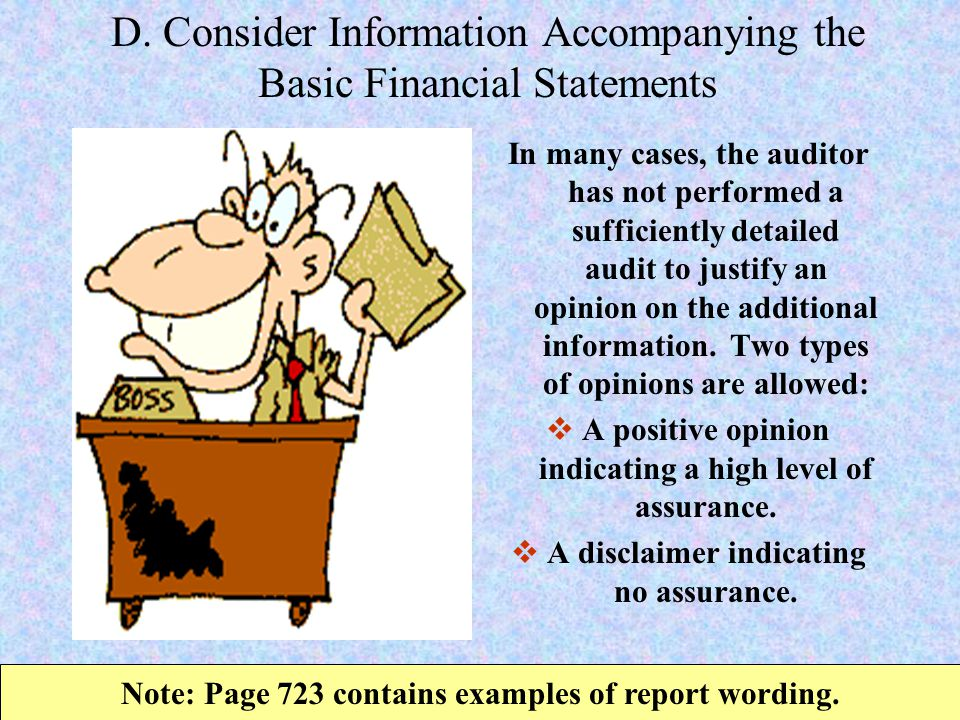 D. Consider Information Accompanying the Basic Financial Statements